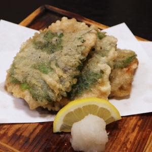 いわしの天ぷら 梅しそ仕立て